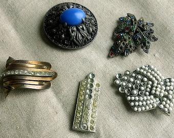 Vintage Dress CLIPS/Button LOT