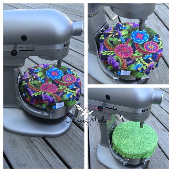 Green And Purple Kitchen: Stand Mixer Mixing Bowl Cover Kitchen Bright Green Pink Purple