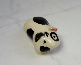 Spotted Guinea Pig - Terrarium Figurine - Animal Figurine - Guinea Pig Miniature - Pottery Animal - Clay Animal  (Studio Choice)