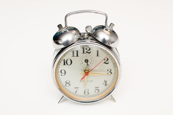 Vintage Westclox Chrome Double Bells Wind-Up Alarm Clock