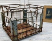 Vintage Nashville Purity Dairy Crate - rustic wire milk crate