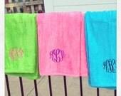 Monogrammed Beach Towels - High Quality