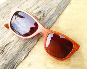 WALKER2012 handmade red rosewood wooden TAKEMOTO sunglasses glasses