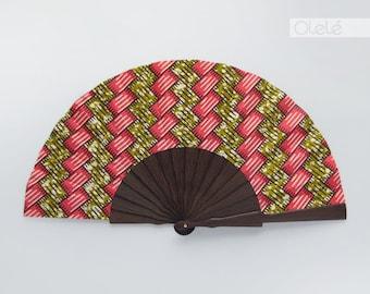 LAST ONE!!  African hand fan with leather case | Dayo | Wenge wood fan | Dark wood | Fan for men and women