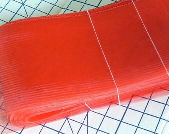 red horsehair - red crinoline - 6 inch horsehair