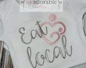 Eat Local - Breastfeeding Support Bodysuit or Tee - BOY or GIRL