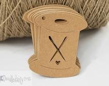 X24 Sewing Bobbin tags labels craft tags crafting gift tag