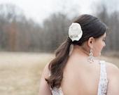 Bridal Hair Piece, Ivory Wedding Hair Flower, Bridal Headpiece, Bridesmaid Hair, Bridal Hair Clip