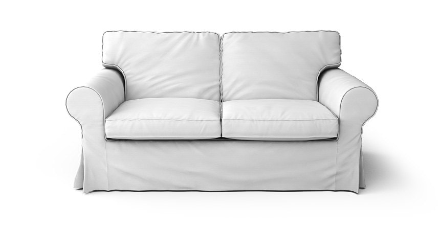 Ikea ektorp 2 seater sofa slipcover in gaia white 100 cotton for Ikea sofa slipcovers discontinued