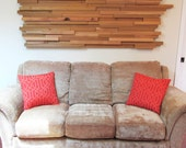 SALE Reclaimed Red Cedar Wall Art or Headboard