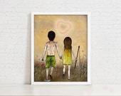 Waiting for True Love - 8X10 llustration Print for True Love, Wedding, Marriage Proposal, Valentine, First Love & Love Story