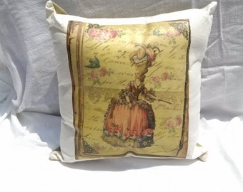 Marie Antoinette Pillow Throw Pillow Couch Sofa Bed Pillow Home Decor