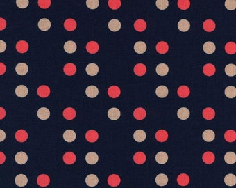 SALE Dime store dot in navy from the Lucky strikes collection by Kimberly Kight for Cotton + Steel