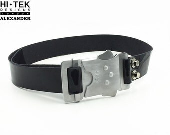 Oswin belt The original Oswin Oswald belt Hi Tek Dr. Who Asylum of the Daleks Hi Tek belt industrial Oswin buckle cosplay cast aluminium
