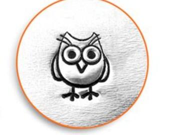 "Metal Stamp ""Owl"" Hootie Metal Design Stamp ImpressArt- 6mm-Steel Stamp Metal Stamping Tool-Metal Supply Chick"