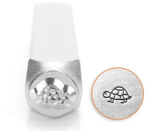 Metal Stamp-Turtle (Shelly) Metal Design Stamp ImpressArt- 6mm  Metal Stamping Tool-Steel Stamp-Metal Supply Chick