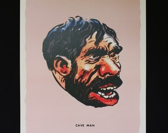Famous Monsters Caveman poster pure 60's horror