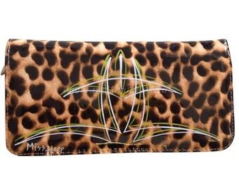 Shirley Rockabilly Leopard Pinstripe Wallet