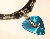 Guitar Pick Necklace - Mermaid Necklace - Nautical Jewelry - Turquoise -  Guitar Pick Jewelry - Mermaid Jewelry - Adjustable Necklace