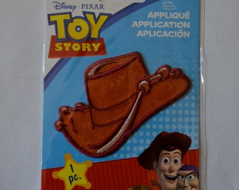New Disney Toy Story WOODY COWBOY Hat Embroidered patch iron on to shirt Applique embroidery patch DIY accessory Birthday Party