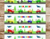 TRANSPORTATION | Water Bottle Labels | Cars, Trucks, Vehicles | Drink Label, Sticker | Birthday, Baby Shower || PRINTABLE (Instant Download)