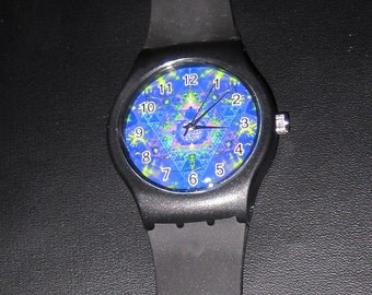 Sacred Geometry Lotus Watch - wrist sports trippy hippie burner-psychedelic 3 Colors STOCK