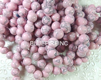 38pcs 10mm round smooth dyed howlite beads