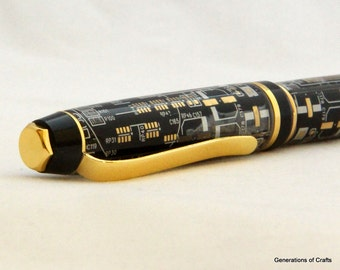 Handmade Pen - Computer Pen - Circuit Board Pen - Gift for Techie * Birthday gifts * Birthday Present ** Gift for Mothers Day