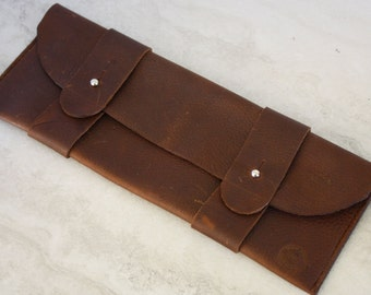 Leather Bag, Leather Clutch with Character, Leather Pouch Handmade