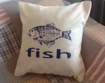 Hand Made Screen Printed Nautical Seaside Cushions