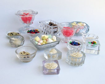 "A Lot of 15 Vintage & Antique Glass Salt Cellars - Small Glass Bowls ""An Instant Collection"""