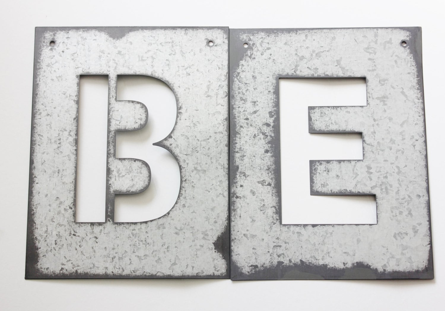 metal letter stencil zinc steel initial home room decor diy With metal letter stencils