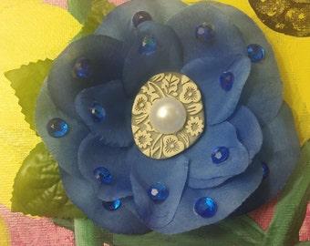 Blue Hair Flower