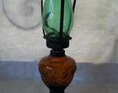 Vintage Antique Glass Lantern