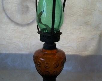 Vintage Antique Glass Lantern