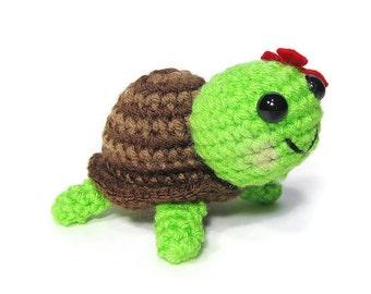 Crochet Turtle - Amigurumi Turtle - Kawaii Turtle - Mini Turtle - Turtle Toy - Turtle Plushie - Turtle Stuffed Animal -Tortoise - Gift Ideas