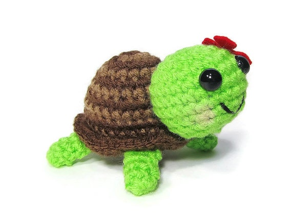 Items similar to Crochet Turtle - Amigurumi Turtle ...