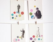 Art Postcard Set, Anthropomorphic, Affordable Art, Modern Stationery, Gift Ideas - Animal People