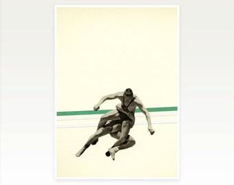 Wrestling Poster Print, Retro Wall Art, Pop Art, Gift for Man - The Wrestler