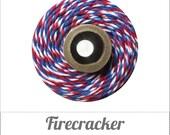 Firecracker - RED, WHITE & BLUE Baker's Twine