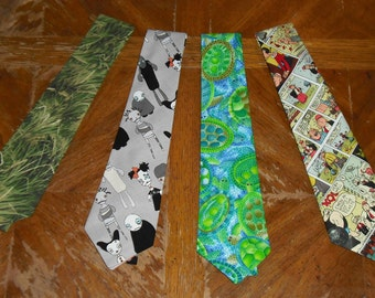 Novelty Neck Tie Necktie Turtles Zombies Grass Popeye Comics Cotton Blend Mens Dress Casual Sport Accessory Fashion Wedding Father Gift