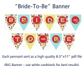 Printable DIY Retry Housewife Theme Bridal Shower Banner - Bride-To-Be