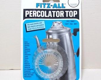 Fitz All Glass Percolator Top Fits Most Electric and Non-Electric Percolators NOS