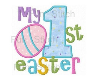 My 1st Easter egg applique machine embroidery design
