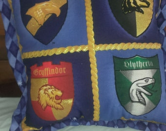 Harry Potter Pillow features the 4 schools