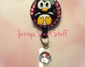 Cute Penguin Badge Reel, ID Holder, Badge Holder, Retractable ID, ID Tag, Badge Clip, Name Badge Holder, Medical, Dental, Teacher, Sale