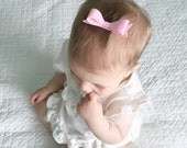 Light Pink Felt Bow on Alligator Clip