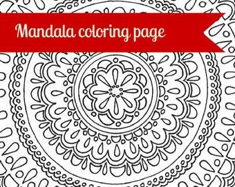 Mandala Printable Adulte Coloring Page