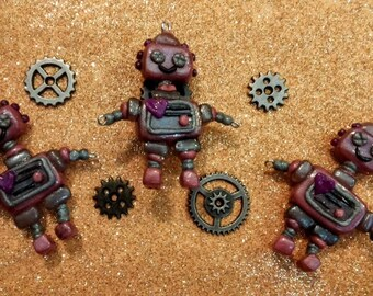 Cyber Girls Robot Kawaii Charms...Your Choice!