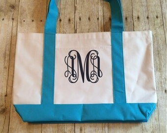 Monogrammed Canvas Bag